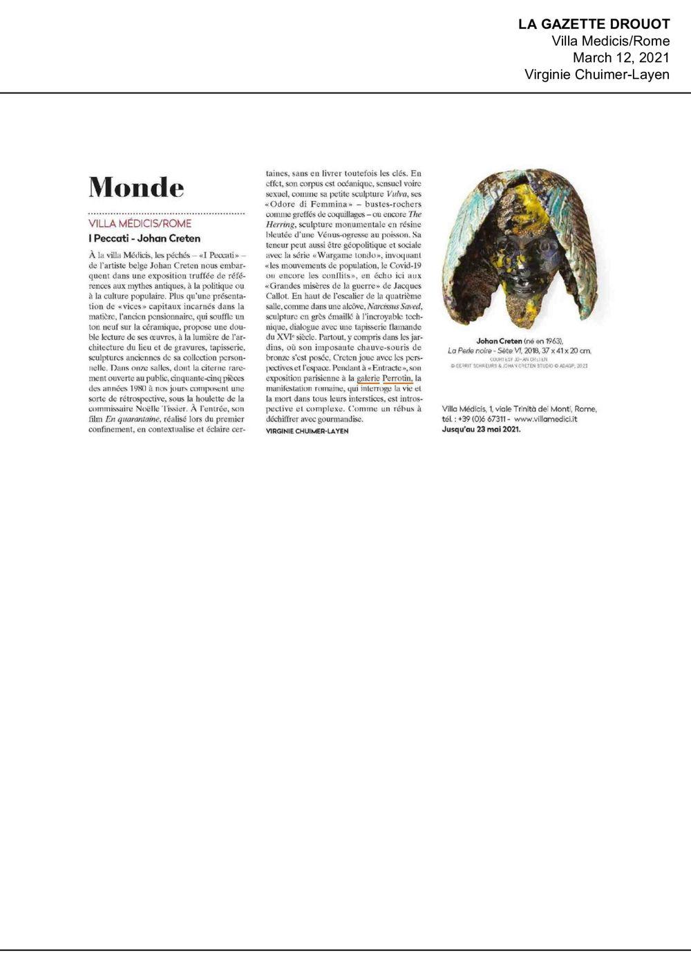 La Gazette Drouot | 約翰·克瑞坦