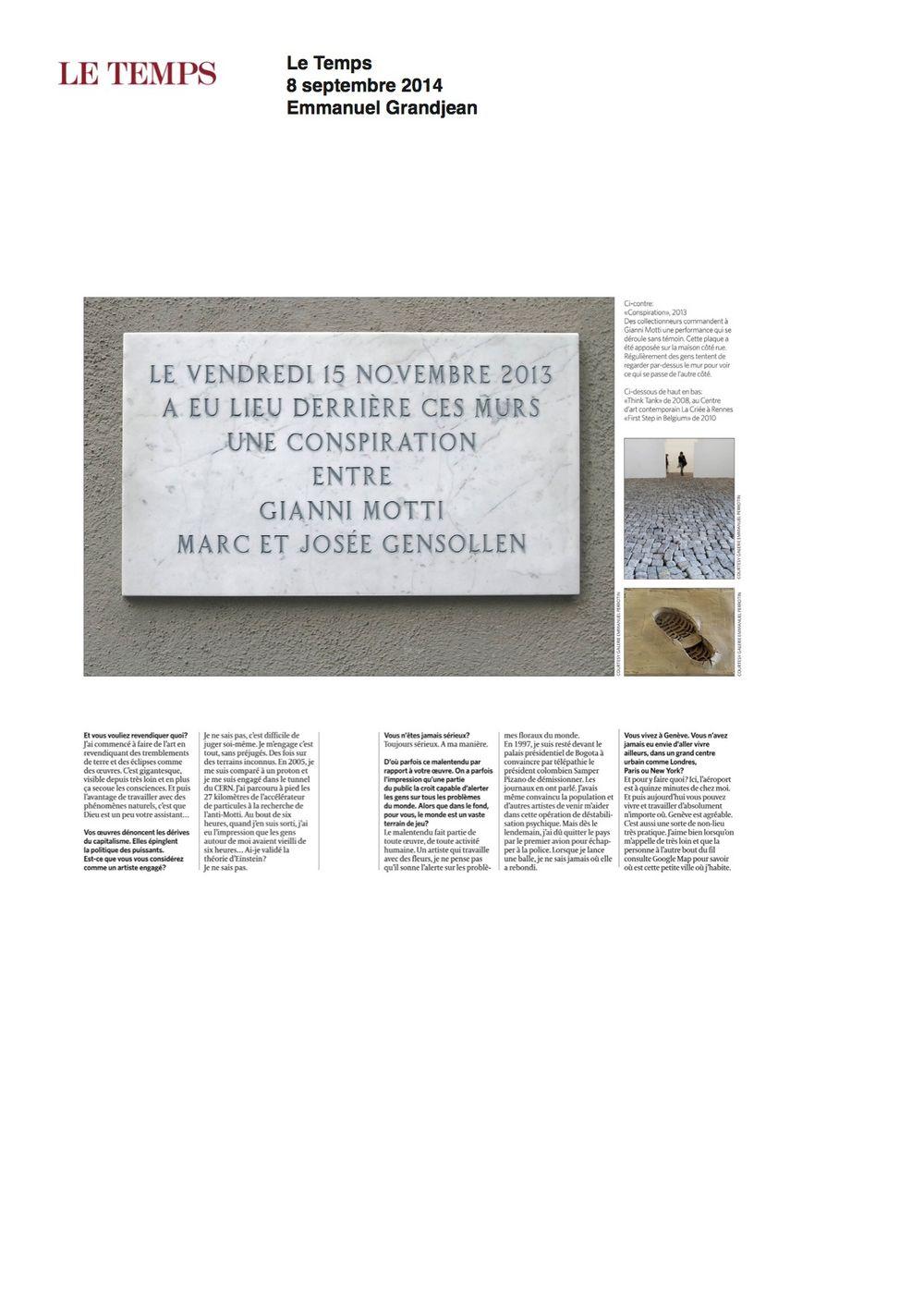 Le Temps | 詹尼·莫提