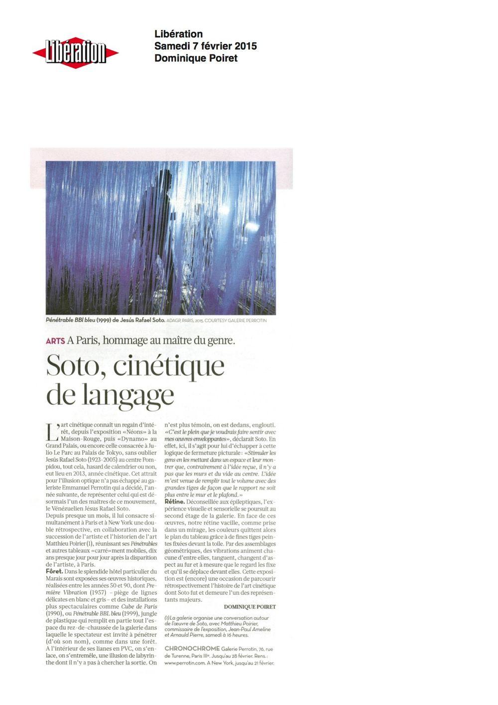 Libération | 赫蘇斯·拉斐爾·索托