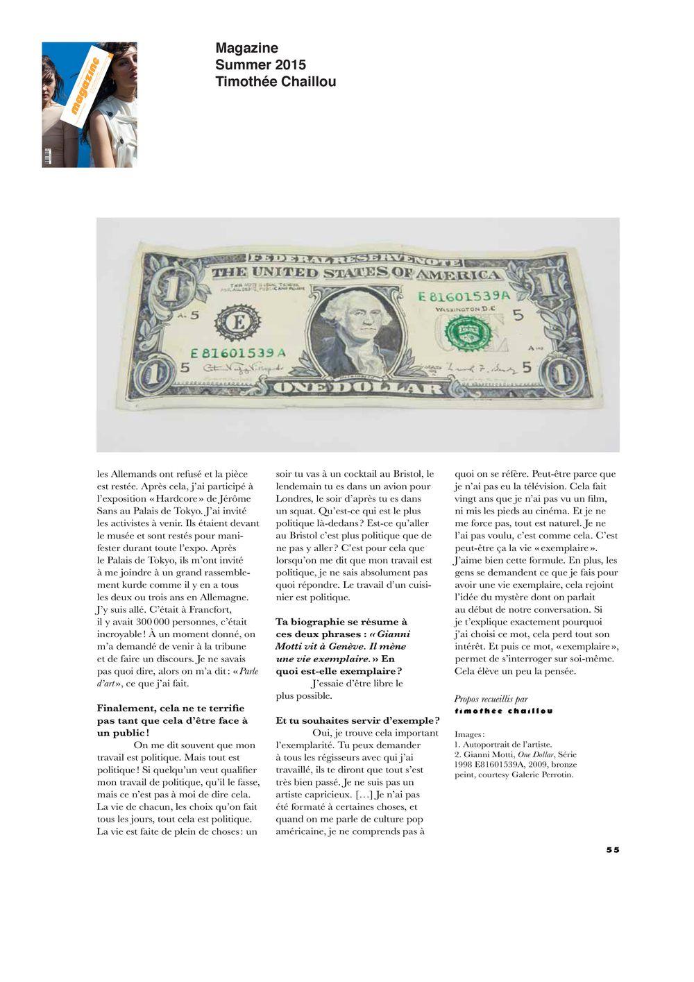 Magazine | Gianni MOTTI
