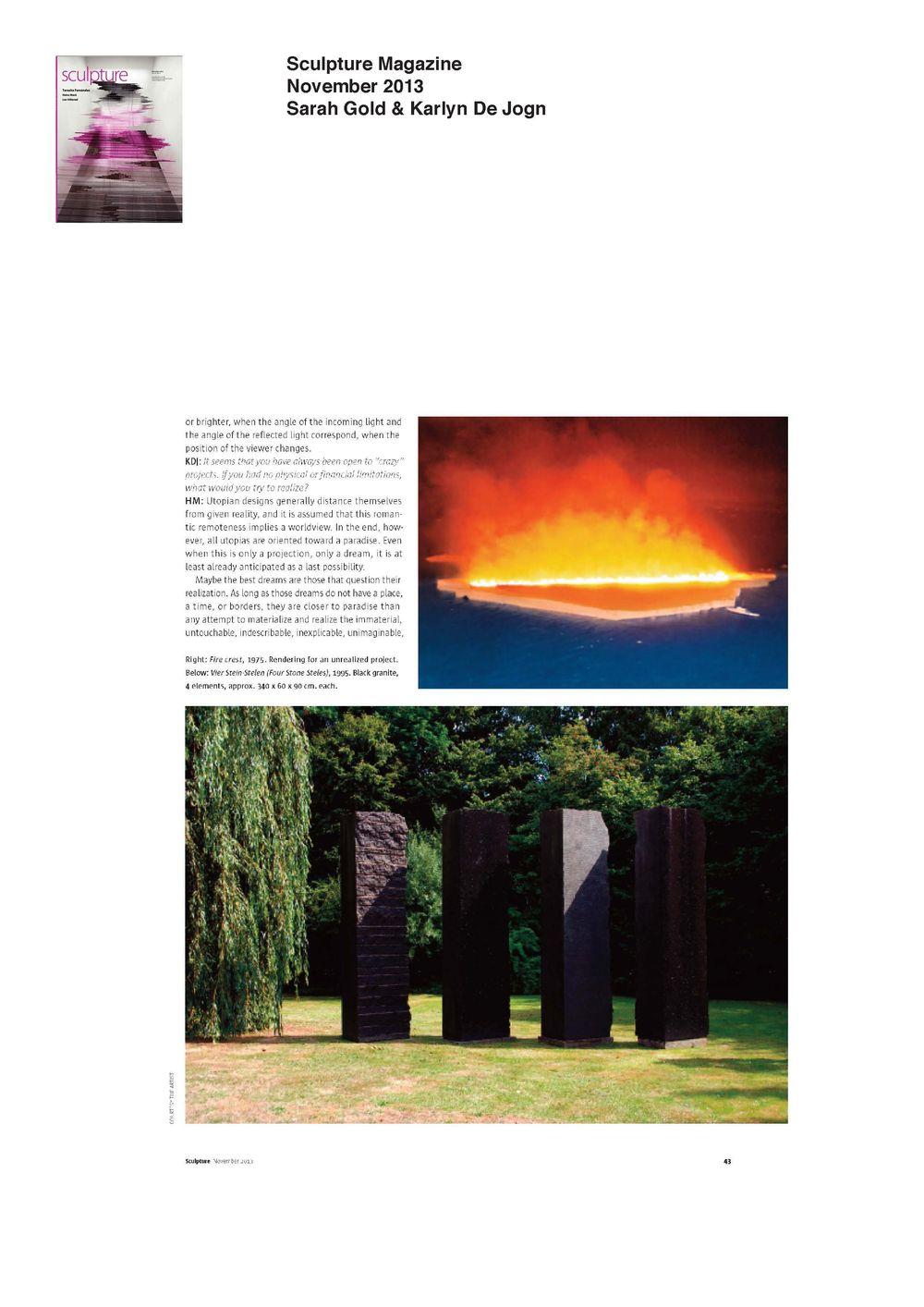 Sculpture Magazine | PERROTIN