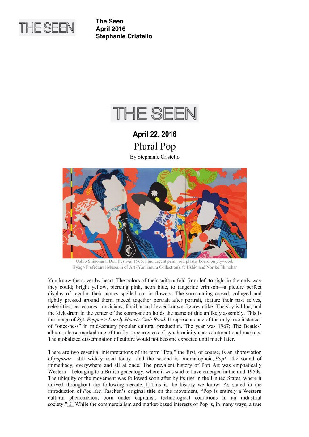 The Seen | ERRÓ