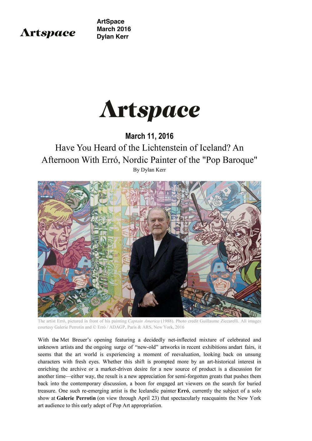 Artspace | ERRÓ