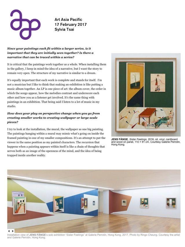 ArtAsiaPacific | Jens FÄNGE