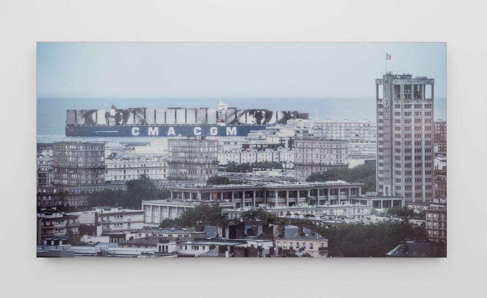 Artist:JR, Exhibition:MOMENTUM. La mécanique de l'épreuve