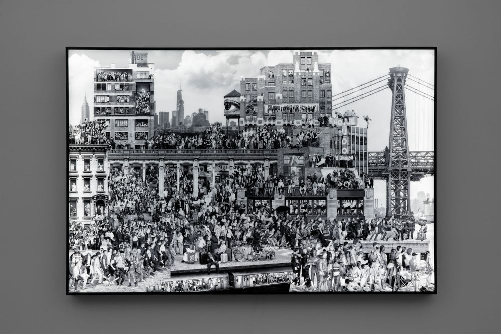 Artist:JR, Exhibition:The Chronicles of New York City – Sketches