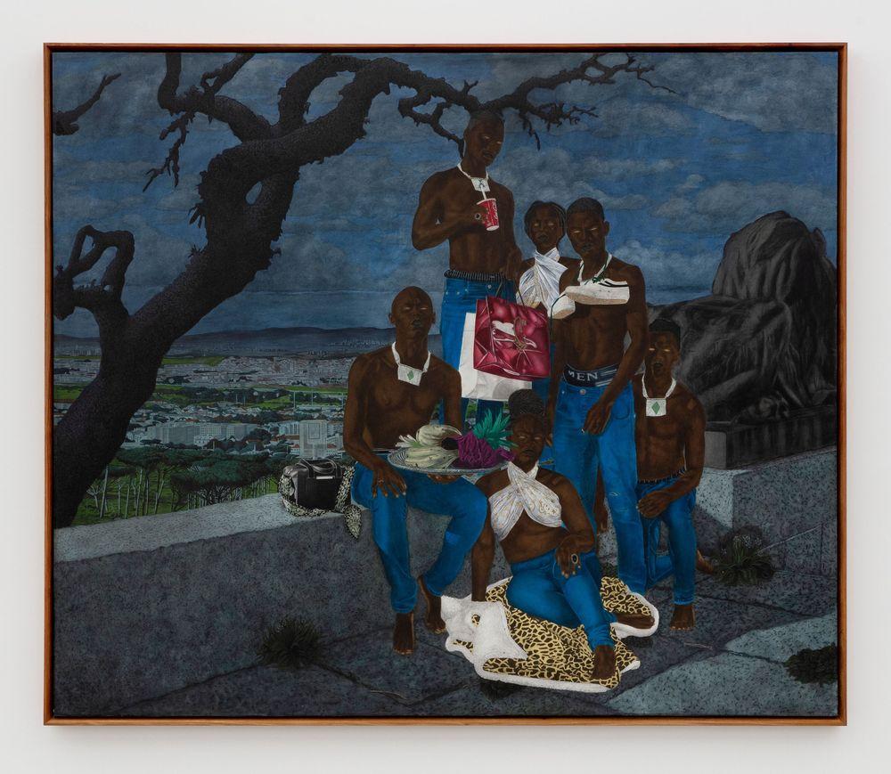 Artist:Cinga SAMSON, Exhibition:Amadoda Akafani, Afana ngeentshebe zodwa (Men are different though they look alike)