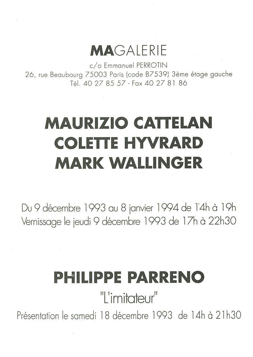 Artist:Maurizio CATTELAN, Exhibition: