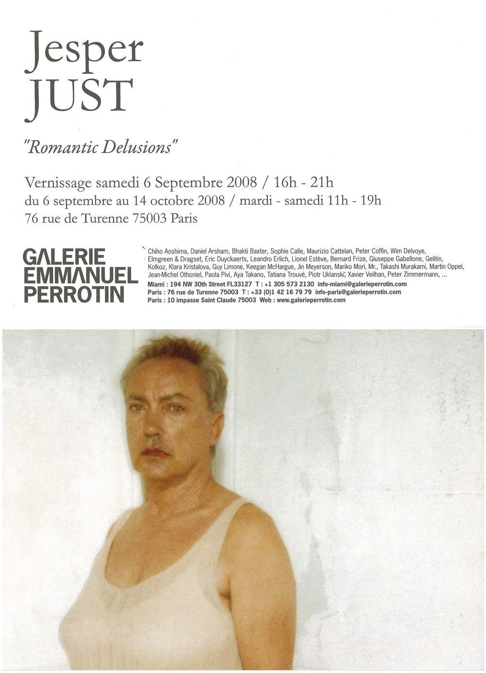 Artist:Jesper JUST, Exhibition:Romantic Delusions
