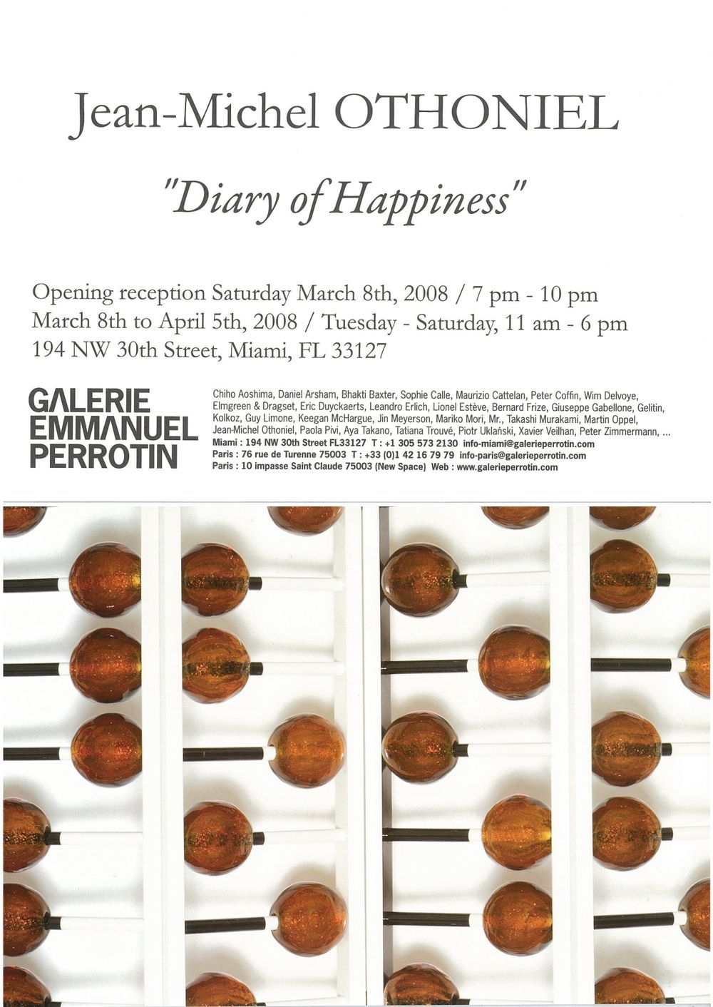 Artist:Jean-Michel OTHONIEL, Exhibition:Diary of Happiness
