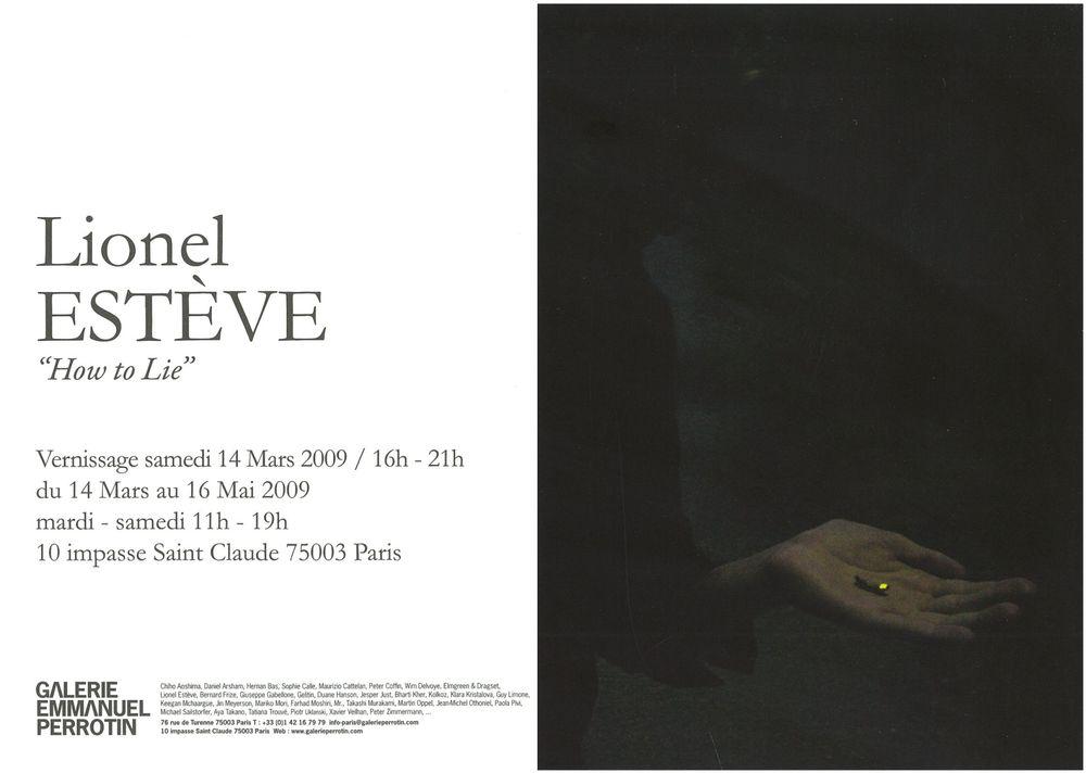 Artist:Lionel ESTÈVE, Exhibition:How To Lie