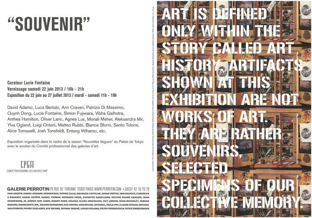 Artist:, Exhibition:Souvenir