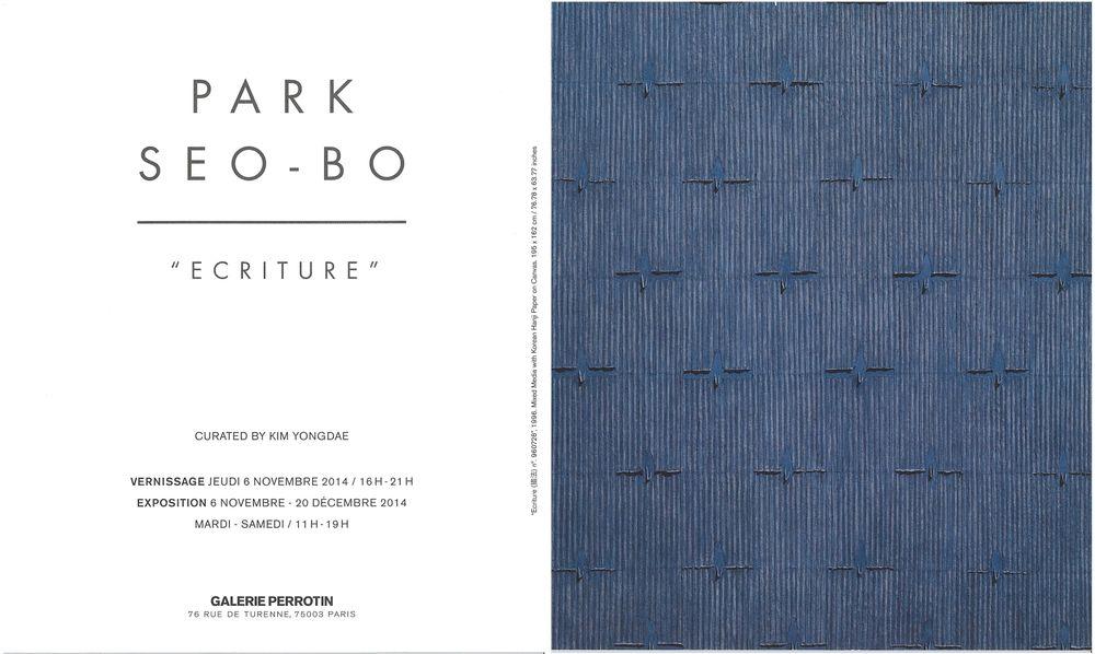 Artist:Park Seo-Bo, Exhibition:Ecriture