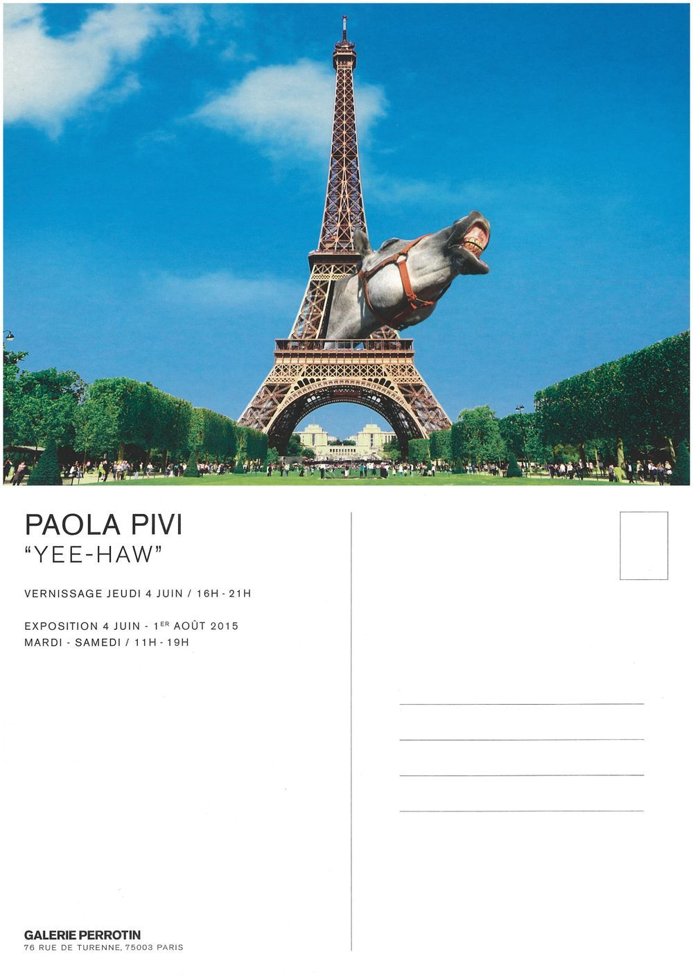 Artist:Paola PIVI, Exhibition:Yee-Haw