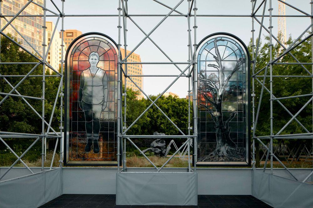 Artist:JR, Exhibition:NGV Triennial