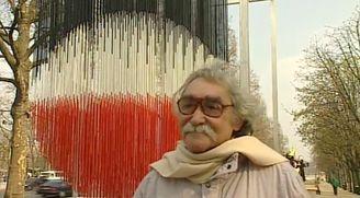 """Interview of Jesus Rafael Soto in 1996 during the exhibition """"Les Champs de la sculpture"""""""