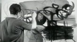 """""""Visite à Hans Hartung"""" Court métrage de Alain Resnais, Muet, 1947, 07""""10"""