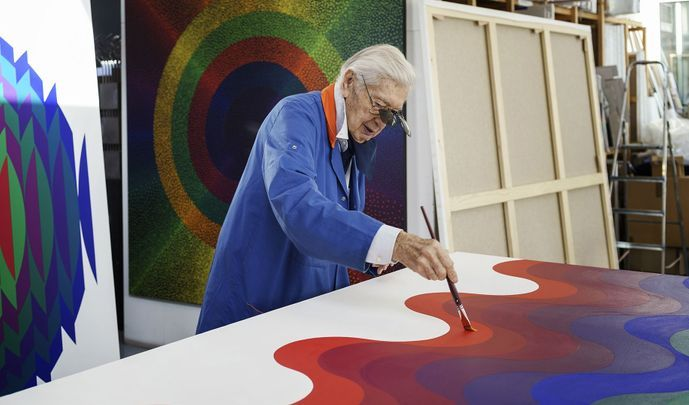 Artist:Julio LE PARC, Exhibition: In the studio with Julio