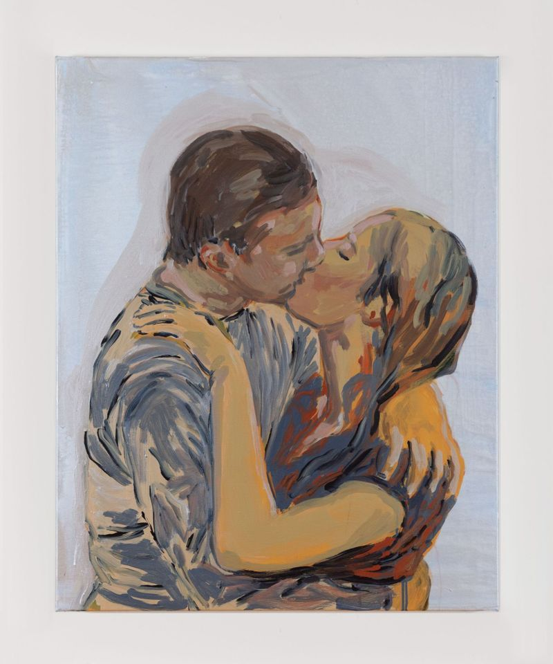 claire_tabouret_The Kiss (blue and red)