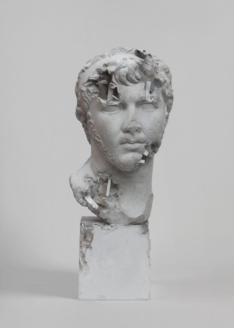 Daniel_Arsham_Grey Selenite Eroded Ptolemee
