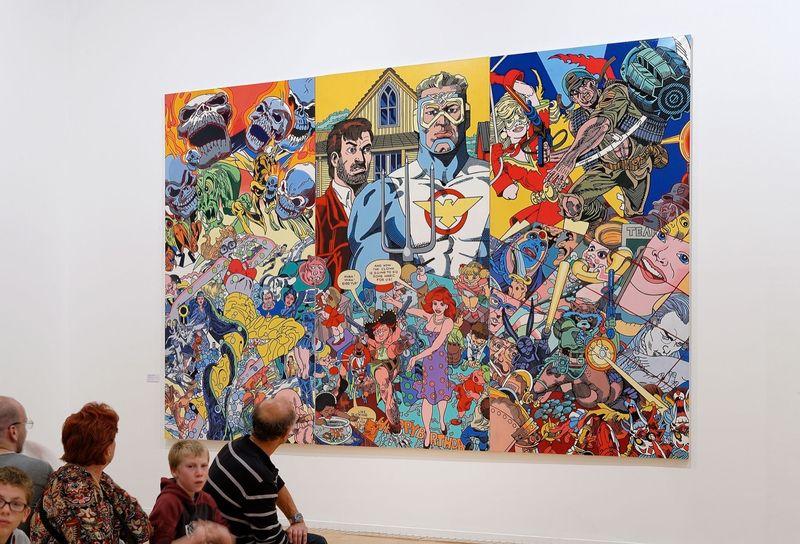 """View of the exhibition """"Erró Retrospective"""" at Musee d'Art Contemporain de Lyon, France"""
