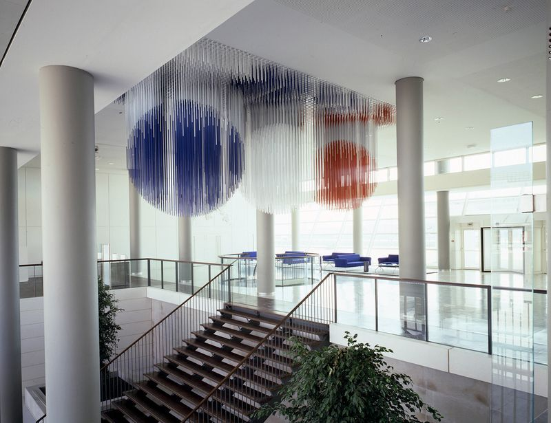 Permanent installation for the entrance hall of Air France headquarters, Roissy, France