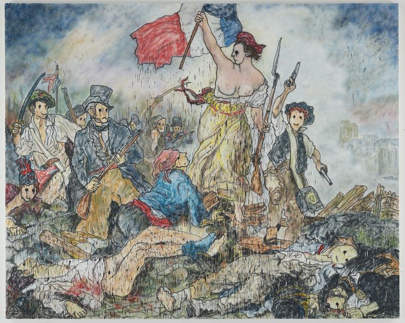 Madsaki_Liberty Leading the People II (inspired by Eugène Delacroix)