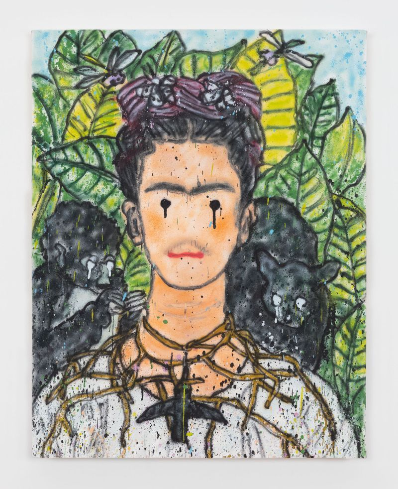 Madsaki_Self Portrait with Necklace of Thorns and Hummingbird II (inspired by Frida Kahlo)