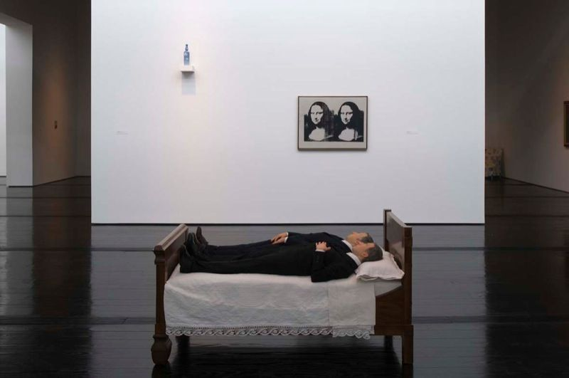 """View of the exhibition """"Is There Life Before Death"""" in 2010 at The Menil Collection, Houston © Hester + Hardaway"""