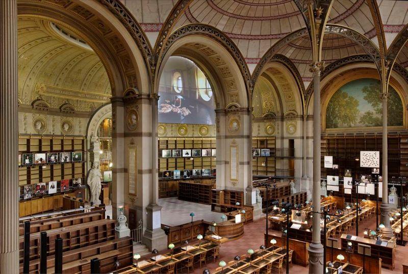 View at the Bibliothèque Nationale de France, Site Richelieu, 2008