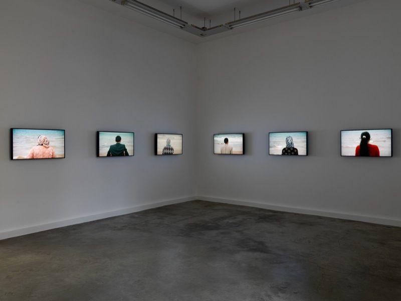 vue d'exposition à la galerie Perrotin, 2012