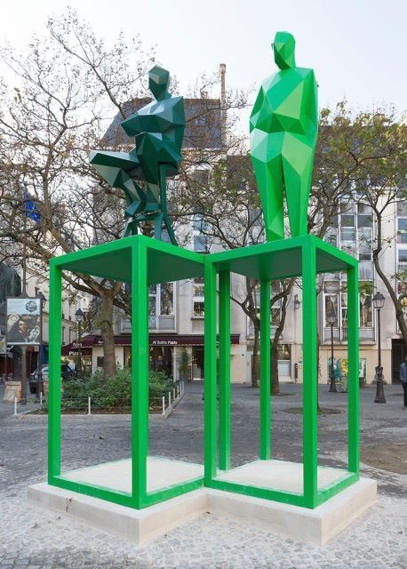 Permanent installation, Place Edmond Michelet, Paris, Collection Centre Pompidou