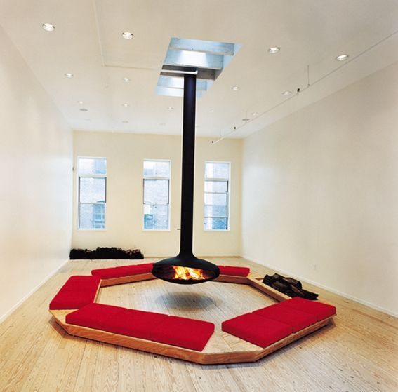 View of the exhibition : Premises. Invested Spaces in Visual Arts, Architecture and Design from France, 1958-1998, Guggenheim Museum Soho, New York, 1998