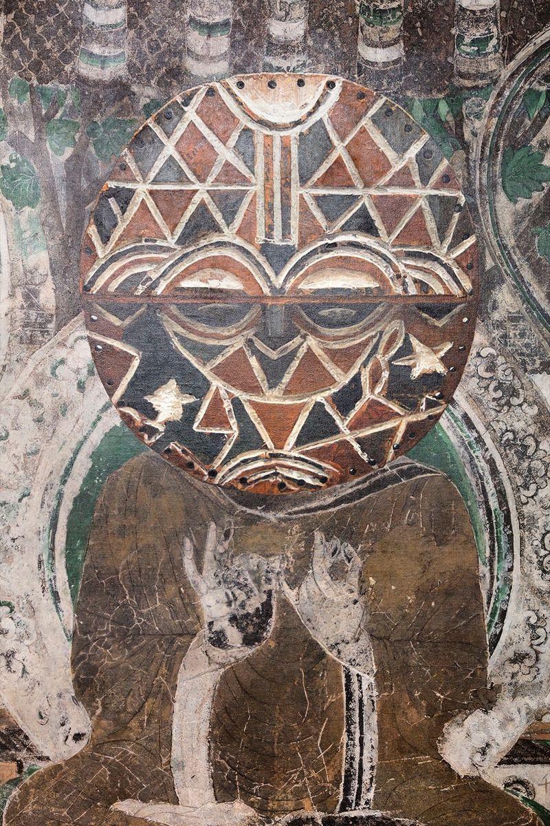 Zhen_Xu_Evolution-Seated Buddha from the South Wall of Mogao Cave No.066, Teke Tsaye Mask / 進化-莫高窟066窟主室南壁坐佛、Teke Tsaye Mask_zhen-xu-42397_47599