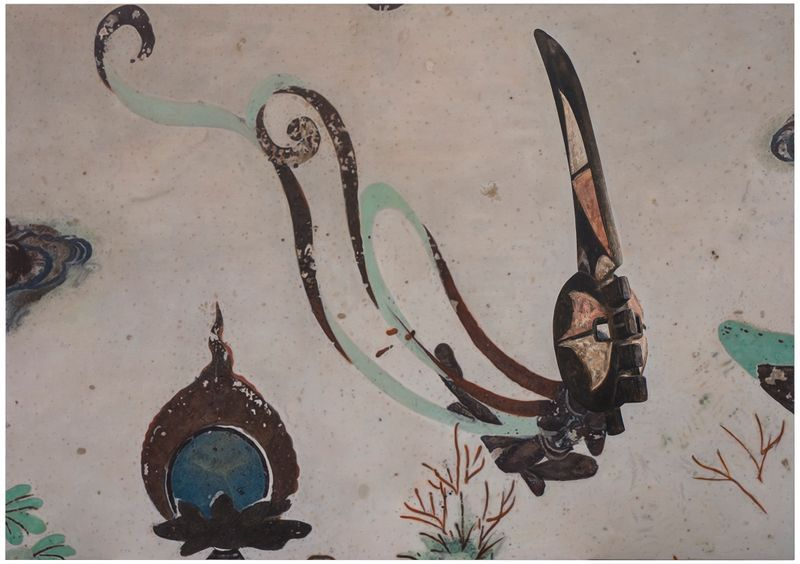 Zhen_Xu_Evolution-North Wall of Mogao Cave No.172, Mma Ji Mask / 進化-莫高窟172窟主室北壁、瑪基面具