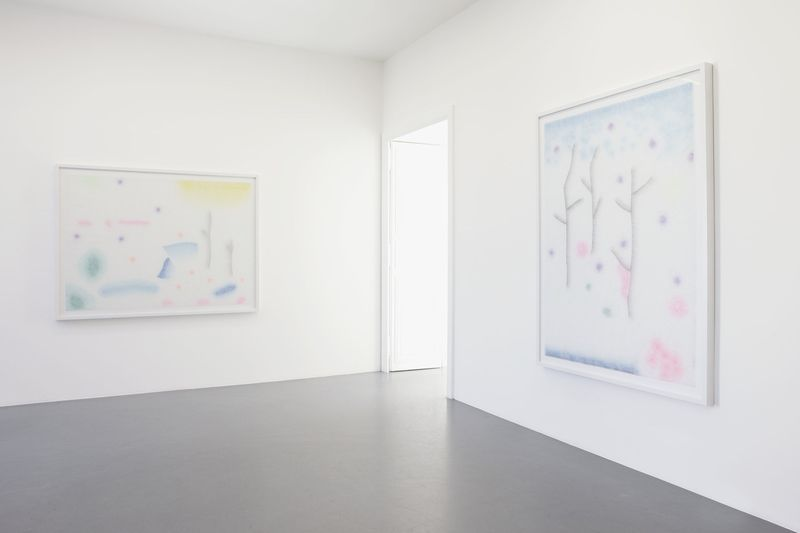 "Lionel Estève ""a wander"" Galerie Perrotin, Paris, April-May 2015"