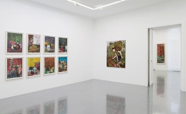 """Hernan Bas """"Fruits and Flowers"""", Galerie Perrotin, from October 22 to December 19, 2015."""