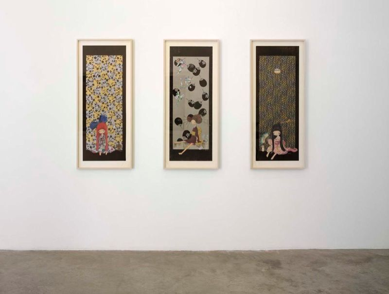 """Chiho_Aoshima_View of the exhibition """"The giant and the courtesans"""" at Perrotin (France), 2007_1000_1"""
