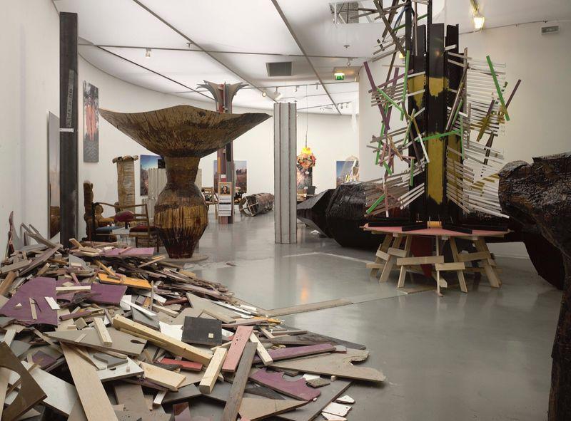 """Gelitin_View of the exhibition """"La Louvre - Paris"""" at Musée d'Art Moderne de la Ville de Paris,  Paris (France), 2008_10046_1"""