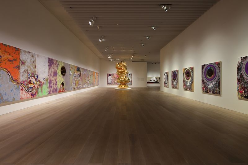 "Takashi_Murakami_View of the exhibition ""The 500 Arhats"" curated by AKIKO MIKI  at Mori Art Museum  Tokyo (Japan), 2015_10061_1"
