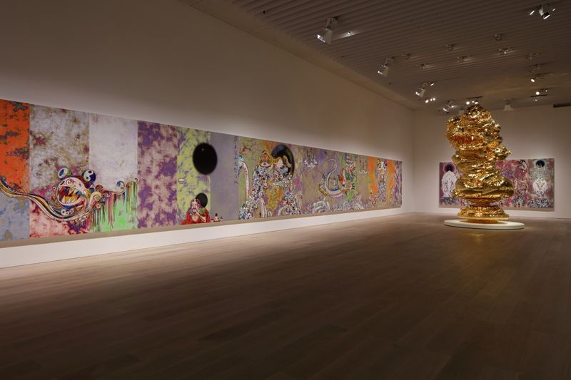 "Takashi_Murakami_View of the exhibition ""The 500 Arhats"" curated by AKIKO MIKI  at Mori Art Museum  Tokyo (Japan), 2015_10063_1"