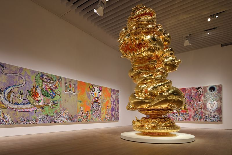 "Takashi_Murakami_View of the exhibition ""The 500 Arhats"" curated by AKIKO MIKI  at Mori Art Museum  Tokyo (Japan), 2015_10064_1"