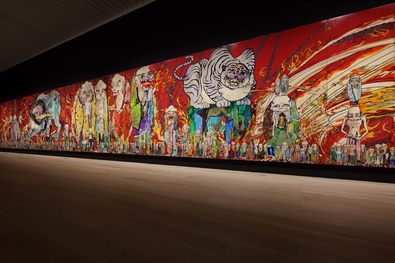 "Takashi_Murakami_View of the exhibition ""The 500 Arhats"" curated by AKIKO MIKI  at Mori Art Museum  Tokyo (Japan), 2015_10070_1"
