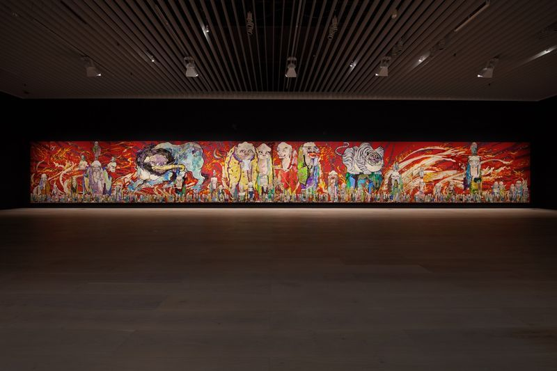 "Takashi_Murakami_View of the exhibition ""The 500 Arhats"" curated by AKIKO MIKI  at Mori Art Museum  Tokyo (Japan), 2015_10072_1"