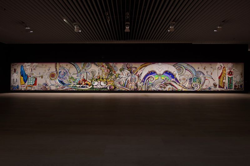 "Takashi_Murakami_View of the exhibition ""The 500 Arhats"" curated by AKIKO MIKI  at Mori Art Museum  Tokyo (Japan), 2015_10073_1"