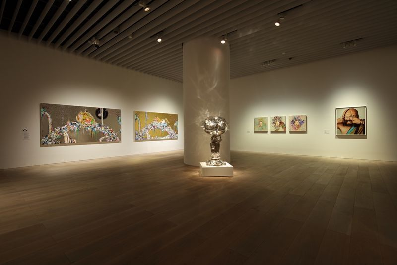 "Takashi_Murakami_View of the exhibition ""The 500 Arhats"" curated by AKIKO MIKI  at Mori Art Museum  Tokyo (Japan), 2015_10079_1"