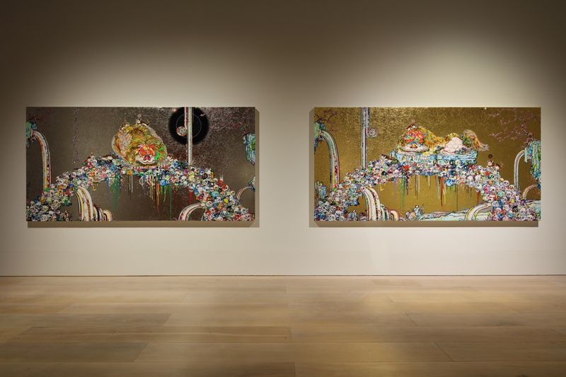 "Takashi_Murakami_View of the exhibition ""The 500 Arhats"" curated by AKIKO MIKI  at Mori Art Museum  Tokyo (Japan), 2015_10080_1"