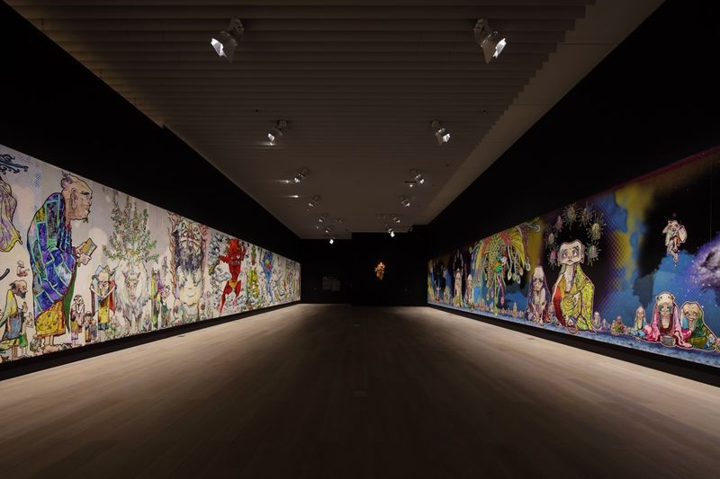 "Takashi_Murakami_View of the exhibition ""The 500 Arhats"" curated by AKIKO MIKI  at Mori Art Museum  Tokyo (Japan), 2015_10093_1"