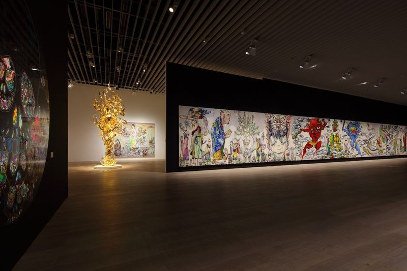 "Takashi_Murakami_View of the exhibition ""The 500 Arhats"" curated by AKIKO MIKI  at Mori Art Museum  Tokyo (Japan), 2015_10094_1"