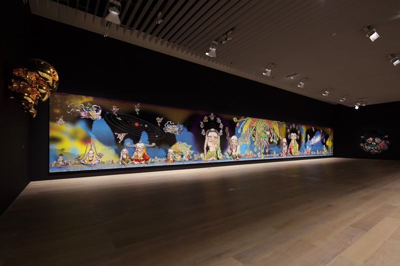 "Takashi_Murakami_View of the exhibition ""The 500 Arhats"" curated by AKIKO MIKI  at Mori Art Museum  Tokyo (Japan), 2015_10097_1"